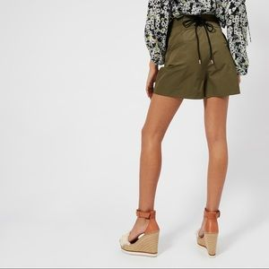 See by Chloe high waisted lace up shorts